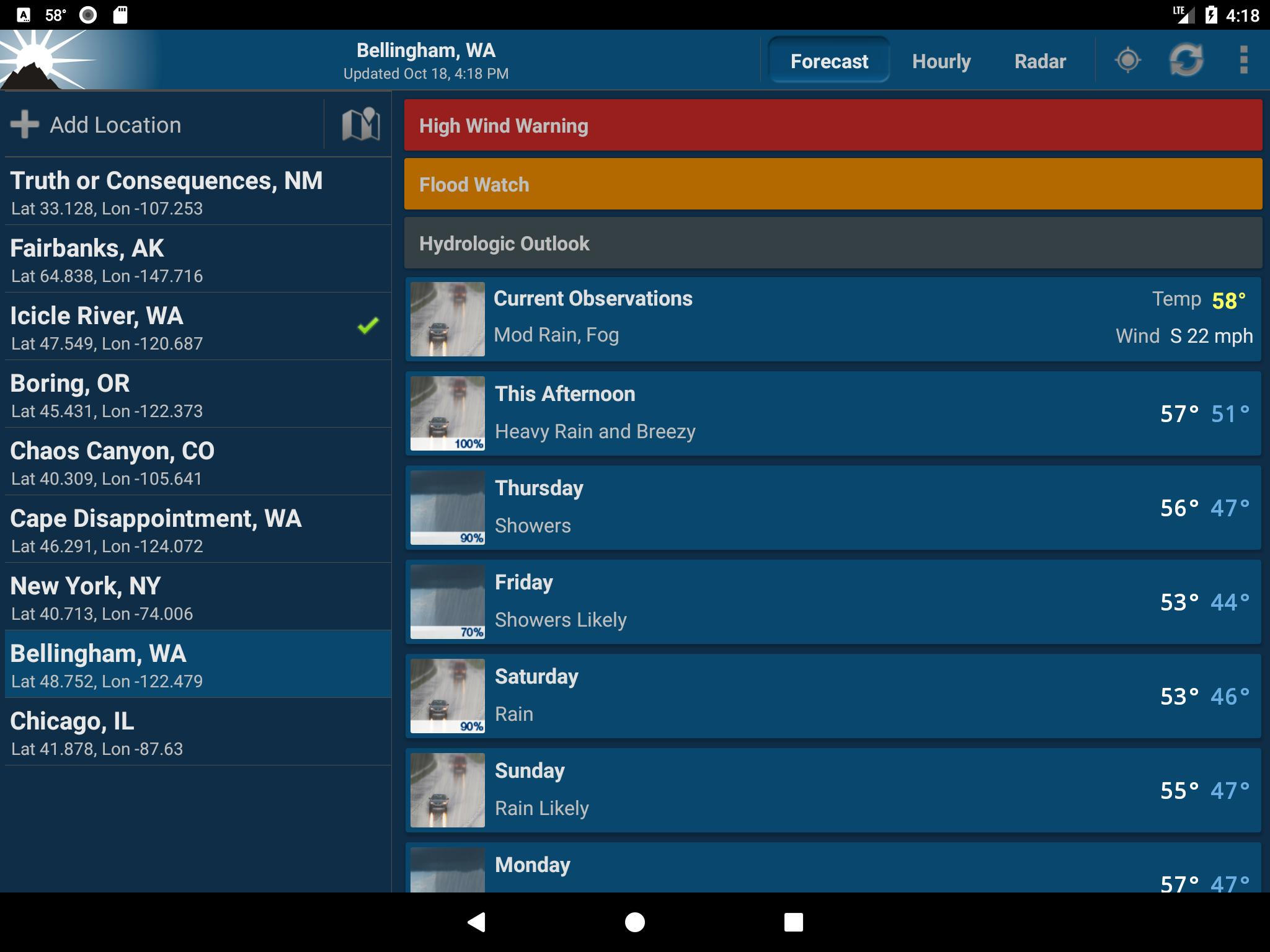 NOAA Weather Unofficial for Android - APK Download