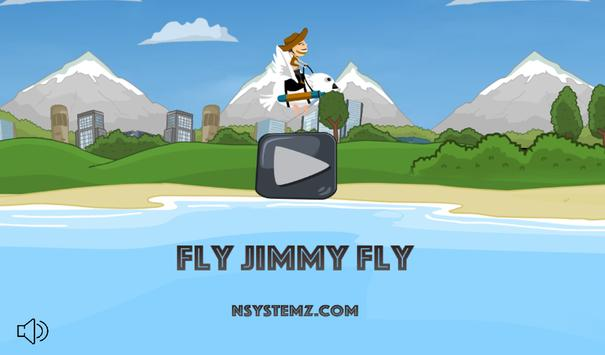 Fly Jimmy fly poster