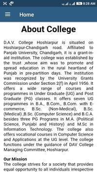 Dav College Hoshiarpur apk screenshot