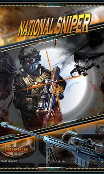 National sniper poster