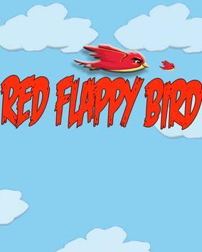 Red Floppy Bird poster