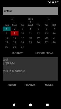 Diary screenshot 1