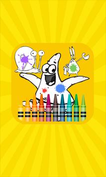 Patrick Star Coloring Book poster
