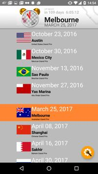 2018 Formula Calendar Alarm Widget screenshot 2
