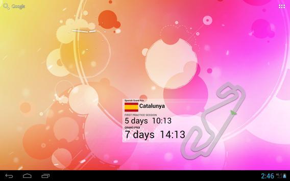 2018 Formula Calendar Alarm Widget screenshot 8