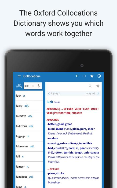 oxford dictionary of english free apk download