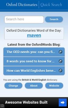 Oxford Dictionaries – Search poster