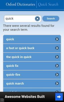Oxford Dictionaries – Search apk screenshot