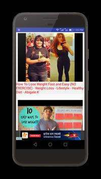 How to lose Weight Video Tips apk screenshot