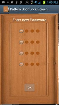 Pattern Door Lock Screen poster