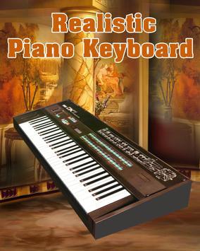 Realistic Piano Keyboard poster