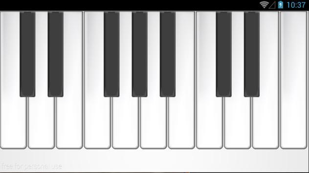 Realistic Piano Keyboard screenshot 1