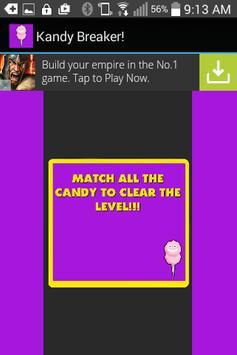Kandy Breaker! Free Candy Game screenshot 2