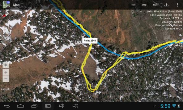 Hiking Route Planner Lite apk screenshot