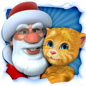 Talking Santa meets Ginger icon