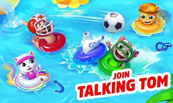 Talking Tom Pool Puzzle Game poster