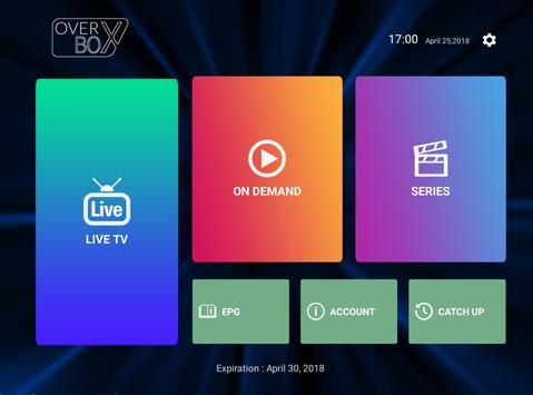 OverBox IPTV captura de pantalla 3