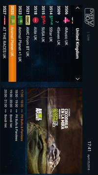 OverBox IPTV captura de pantalla 1