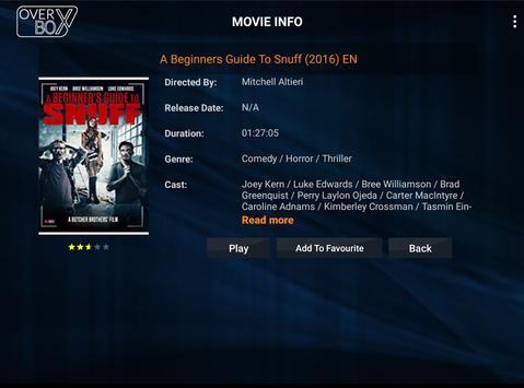 OverBox IPTV captura de pantalla 4