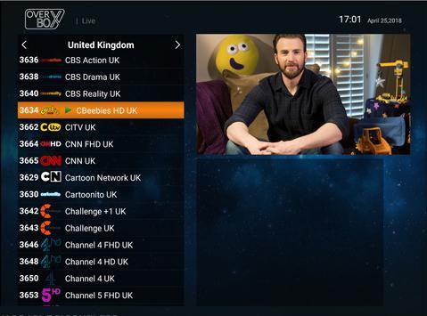 OverBox IPTV captura de pantalla 5