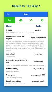 Cheats for Sims 4 & 3 screenshot 1