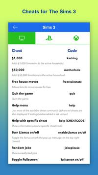 Cheats for Sims 4 & 3 screenshot 3