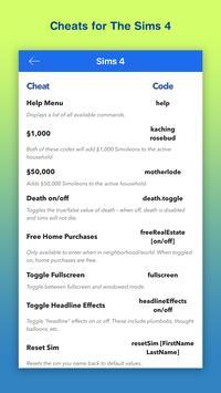 Cheats for Sims 4 & 3 screenshot 4