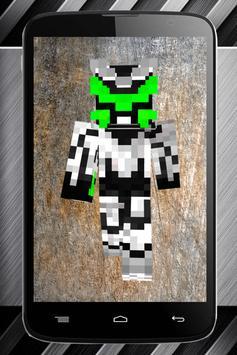 Robot skins for Minecraft poster