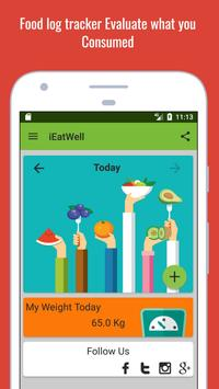 IEatWell:Food Diary&Journal Healthy Eating Tracker poster