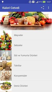 Kalori Cetveli apk screenshot