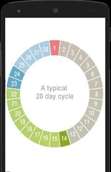 Ovulation calendar screenshot 1