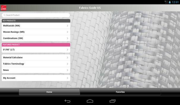 US Technical Fabrics Guide screenshot 1