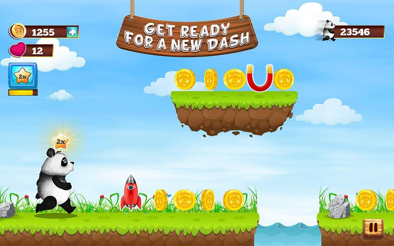 Panda runner: cross the hurdles game apk download free arcade.