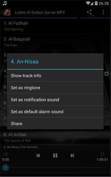 Al-Sudais Al-Quran MP3 Offline screenshot 7