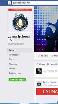 Radio Latina Estereo FM apk screenshot