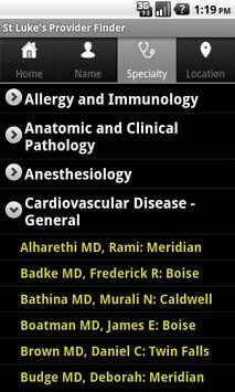 St. Luke's Provider Finder apk screenshot