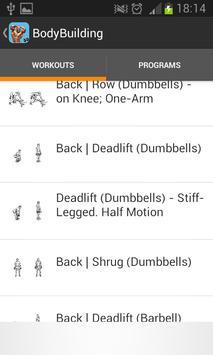Bodybuilding movements sports apk screenshot