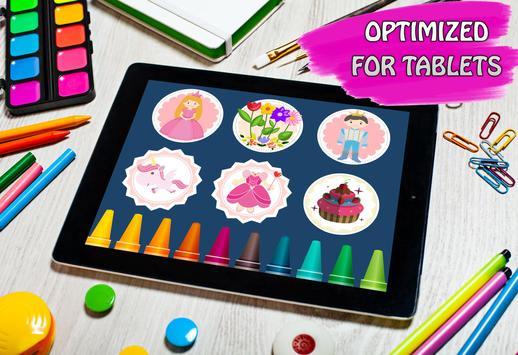 princess game & coloring book screenshot 12
