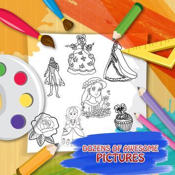 princess game & coloring book screenshot 14