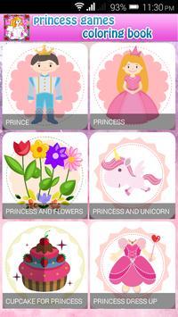 princess game & coloring book screenshot 2