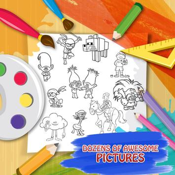 Trolls Coloring Games Apk Screenshot