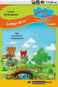Letter W for LKG Kids Practice poster