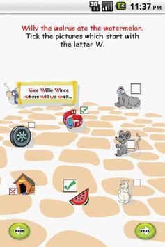 Letter W for LKG Kids Practice apk screenshot