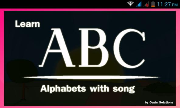 ABC learning with ABC song poster