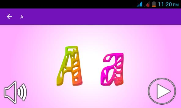 ABC learning with ABC song screenshot 2