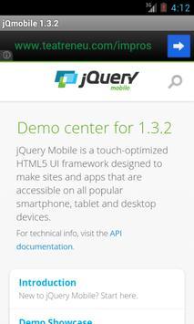 jQuery mobile 1.3.2 Demos&docs poster
