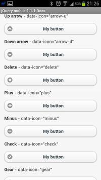 jQuery mobile 1.1.1 Demos&docs apk screenshot