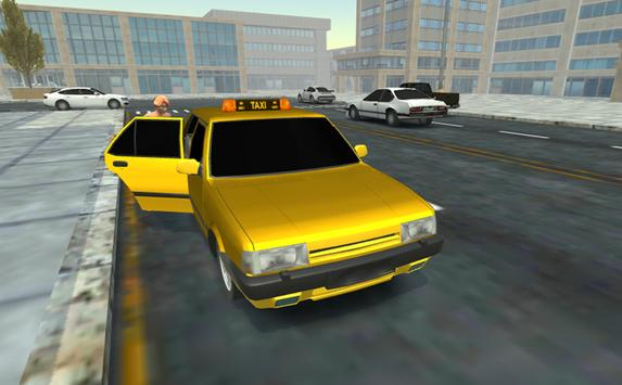Taxi Driving Simulator 3D poster
