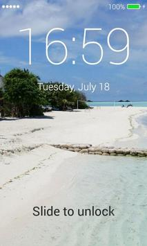 Beach App Lock Screen screenshot 4