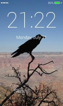 Black Raven Lock Screen poster